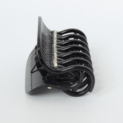 Haarklammer Haargreifer mit Strass in Schwarz - 1