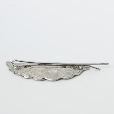 Metal Haarklammer Feder in der Farbe Silber - 3