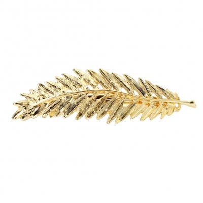 Metal Haarklammer Blatt in der Farbe Gold - 1