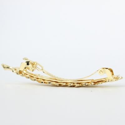 Metal Haarklammer Blatt in der Farbe Gold - 3