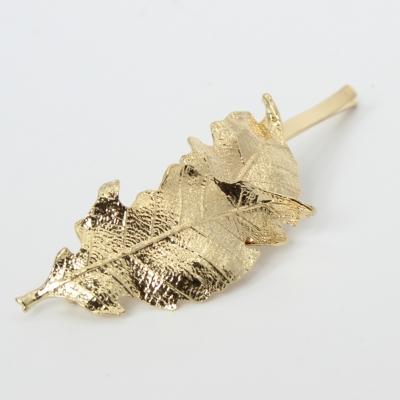 Metal Haarklammer Blatt in der Farbe Gold - 4