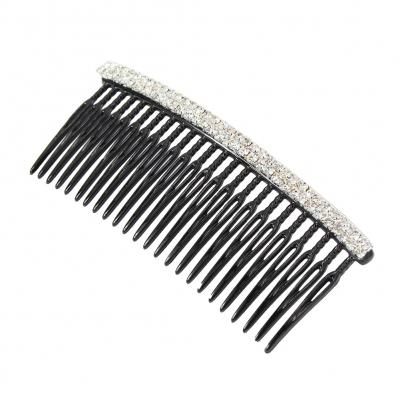 Strass Haarkamm in der Farbe Silber - 1