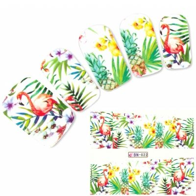 Tattoo Nail Art Flamingo Aufkleber Nagel Sticker