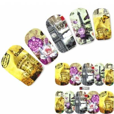 Tattoo Nail Art Eiffelturm Paris London Big Ben Aufkleber Nagel Sticker