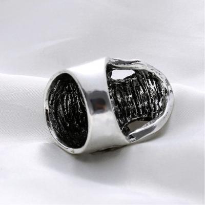 3D Edelstahl Ring Totenkopf Skull Silber Strass - 5