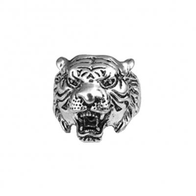 3D Edelstahl Ring Tiger Panthera tigris Silber - 1
