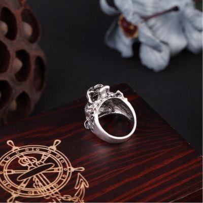 3D Edelstahl Ring Tiger Panthera tigris Silber - 4