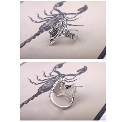 3D Edelstahl Ring Adler Eagle Silber - 3