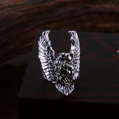 3D Edelstahl Ring Adler Eagle Silber - 4