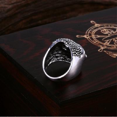 3D Edelstahl Ring Totenkopf Skull Silber - 3
