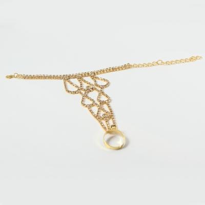 Sklavenarmband Handschmuck Armband in der Farbe gold - 2
