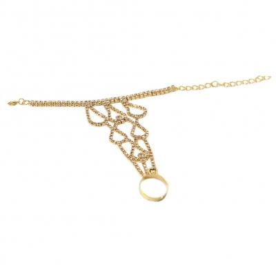 Sklavenarmband Handschmuck Armband in der Farbe gold - 3