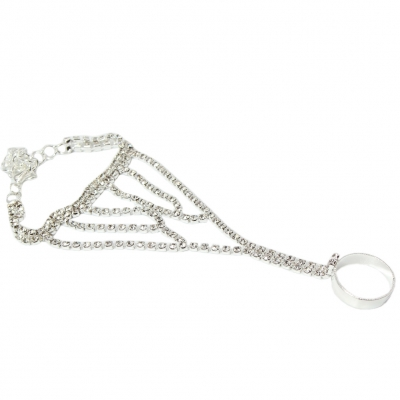 Sklavenarmband Handschmuck Armband in der Farbe Silber - 2