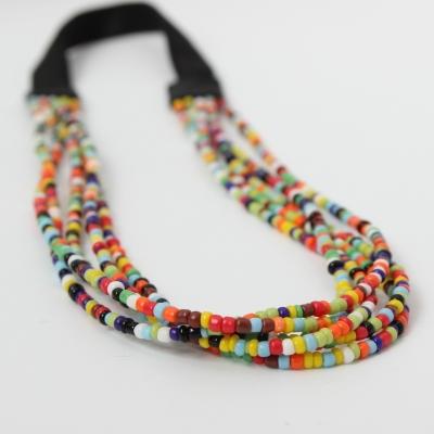 Luxus Pailletten Haarband in Regenbogen Farben - 1