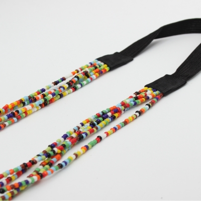 Luxus Pailletten Haarband in Regenbogen Farben - 2