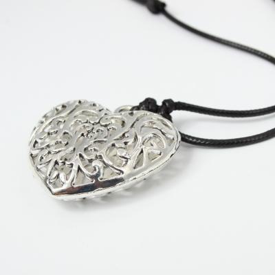 Halskette mit Herz Anhänger Handarbeit Mehndi Vintage - 2