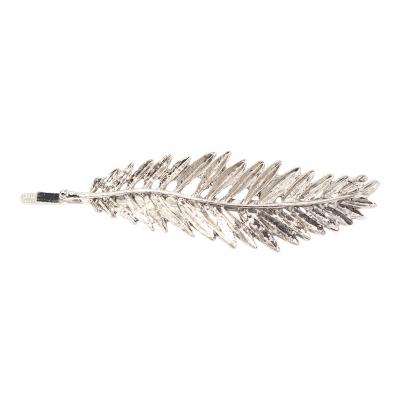 Metal Haarklammer Blatt in der Farbe Silber - 1