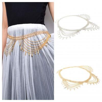 Kettengürtel Hüftgürtel Taille Buckle Vintage Kleid Dekoration Gold - 1