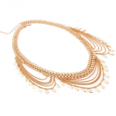 Kettengürtel Hüftgürtel Taille Buckle Vintage Kleid Dekoration Gold - 4