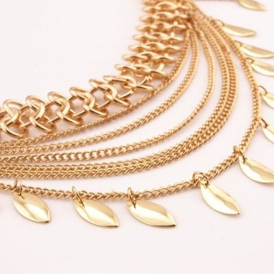 Kettengürtel Hüftgürtel Taille Buckle Vintage Kleid Dekoration Gold - 5