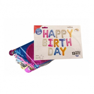 13 tlg Happy Birthday Buchstaben Luftballon Set 40CM Folienballon - 1