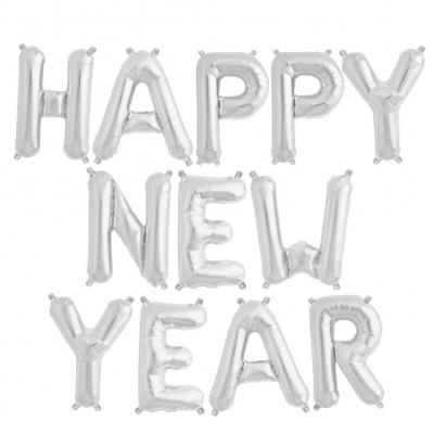 12 tlg Happy New Year Buchstaben Luftballon Set 40CM Folienballon 2019 - 1