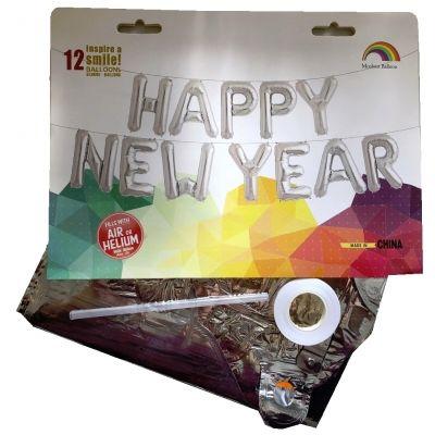 12 tlg Happy New Year Buchstaben Luftballon Set 40CM Folienballon 2019 - 3