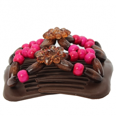 Trend African Hairclip Haarklammer mit Blume Pink - 2