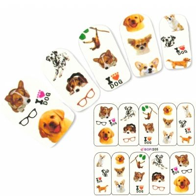 Tattoo Nail Hund Corgi Aufkleber Nagel Sticker