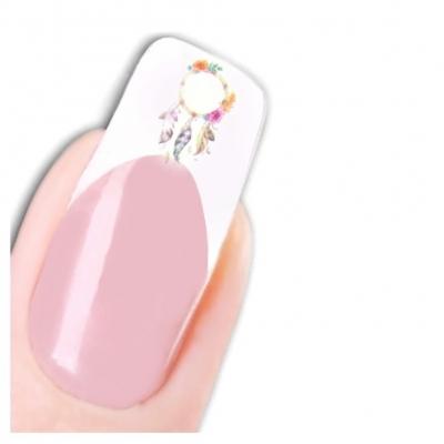 Tattoo Nail Art Traumfänger Feder Blumen Aufkleber Nagel Sticker - 1