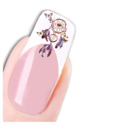 Tattoo Nail Art Traumfänger Feder Schmetterling Aufkleber Nagel Sticker - 1