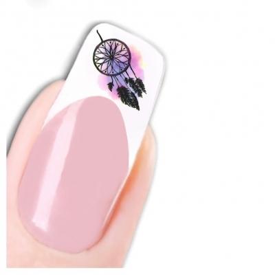 Tattoo Nail Art Traumfänger Feder Muschel Aufkleber Nagel Sticker - 1