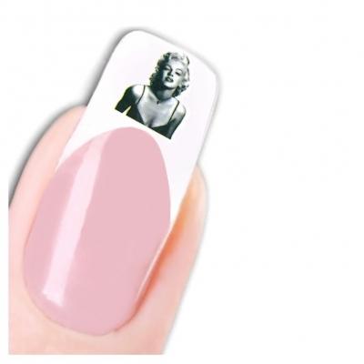 Tattoo Nail Art Marilyn Monroe Bild Weltstars der 1950 er Nagel Sticker - 1