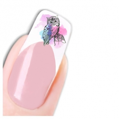 Tattoo Nail Art Eule Uhu Nagel Sticker - 1