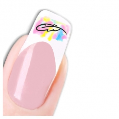 Tattoo Nail Art Feder Bunt Nagel Sticker - 1