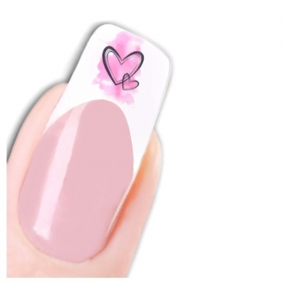 Tattoo Nail Art Vogel Herz Blume Nagel Sticker - 1