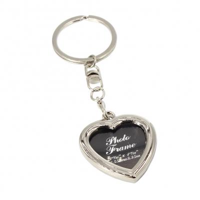 Schlüsselanhänger mit Foto Metall Medaillon Geschenk Herz - 2