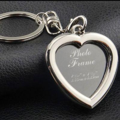 Schlüsselanhänger mit Foto Metall Medaillon Geschenk Herz - 3