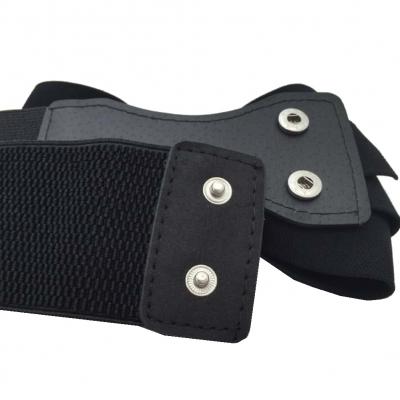 Hüftgürtel Schleife Stretch Taillengürtel mit Strass Schwarz - 2