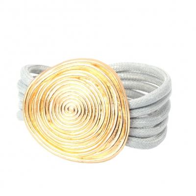 Luxus Armband Spiralen Design in der Farbe Gold mit Magnetverschluss - 1
