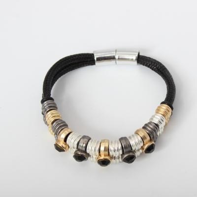 Luxus Armband Strass Design in der Farbe Schwarz mit Magnetverschluss - 3