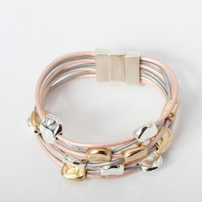 Luxus Armband mit Ornamenten Design Farbe Rose Gold Silber mit Magnetverschluss - 5