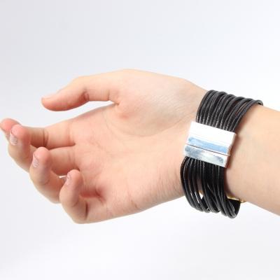 Luxus Armband Spiralen Design mit Strass Farbe Gold Schwarz mit Magnetverschluss - 2