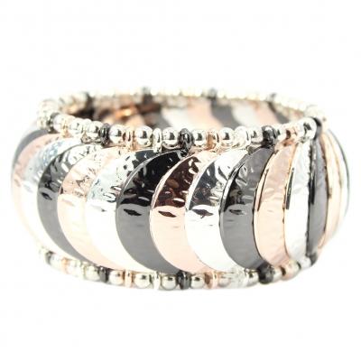 Luxus Armband exklusives Design in der Farbe Silber Schwarz Rose - 1
