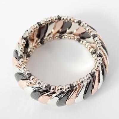 Luxus Armband exklusives Design in der Farbe Silber Schwarz Rose - 2