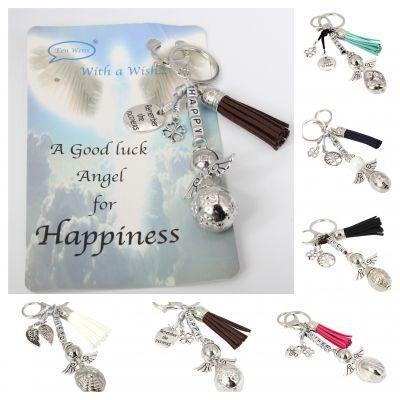 Schlüsselanhänger Metall Medaillon Geschenk Idee lucky charm Glücksbringer - 1