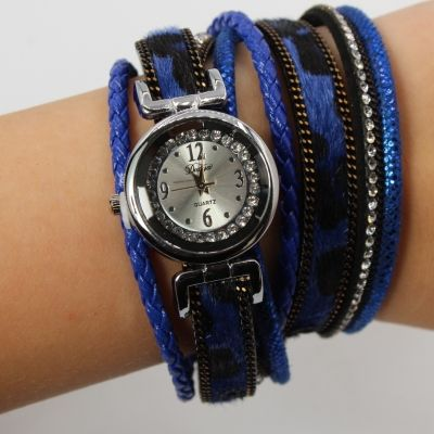 Damen Uhr Quartz Armbanduhr Strass Armband Armschmuck mit Magnetverschluss - 1