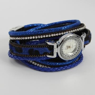 Damen Uhr Quartz Armbanduhr Strass Armband Armschmuck mit Magnetverschluss - 2
