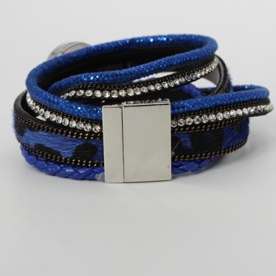Damen Uhr Quartz Armbanduhr Strass Armband Armschmuck mit Magnetverschluss - 3