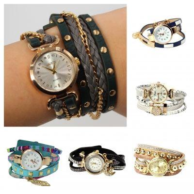 Damen Uhr Quartz Armbanduhr Strass Armband Armschmuck Modell 6 - 1